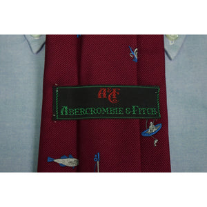 Abercrombie & Fitch Burg Angling Silk Twill Tie