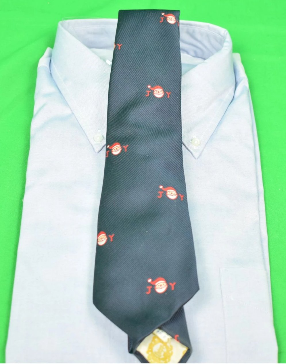 "Chipp Red Santa ""Joy"" Terelene Club Navy Tie"