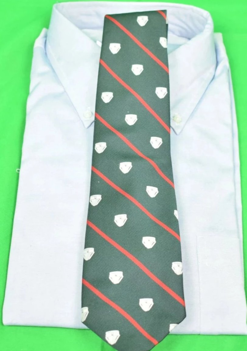 Chipp 'Jock Strap' Green w/ Red Stripe Tie