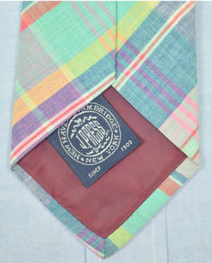 J. Press The Burlington Knot Pastel Madras Tie