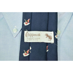 Chipp 'Munk' Santa on Chimney Navy Poly Tie