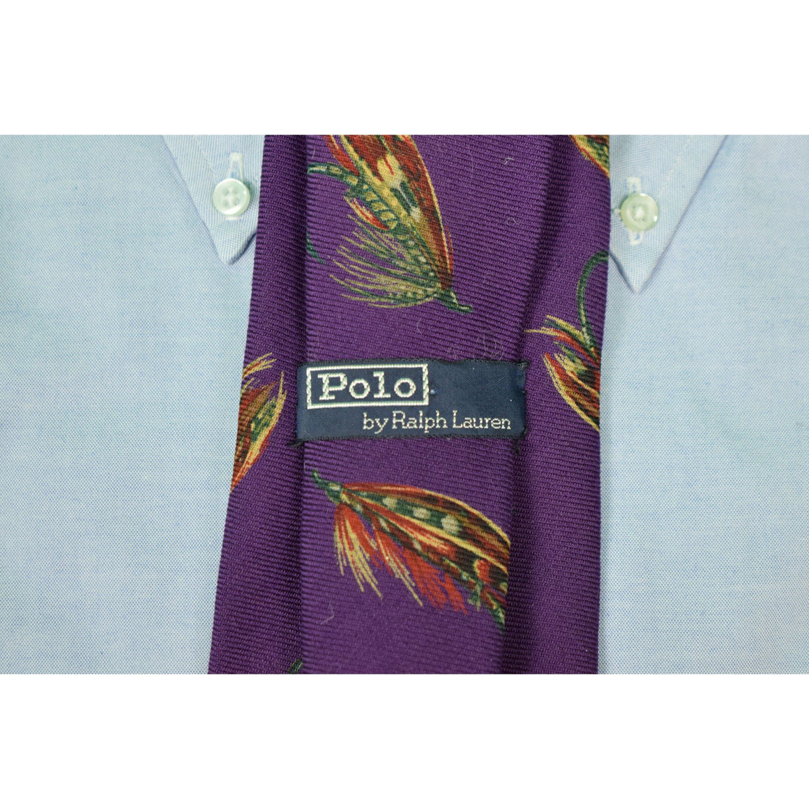 Polo by Ralph Lauren Wool Challis Trout Fly Purple Tie