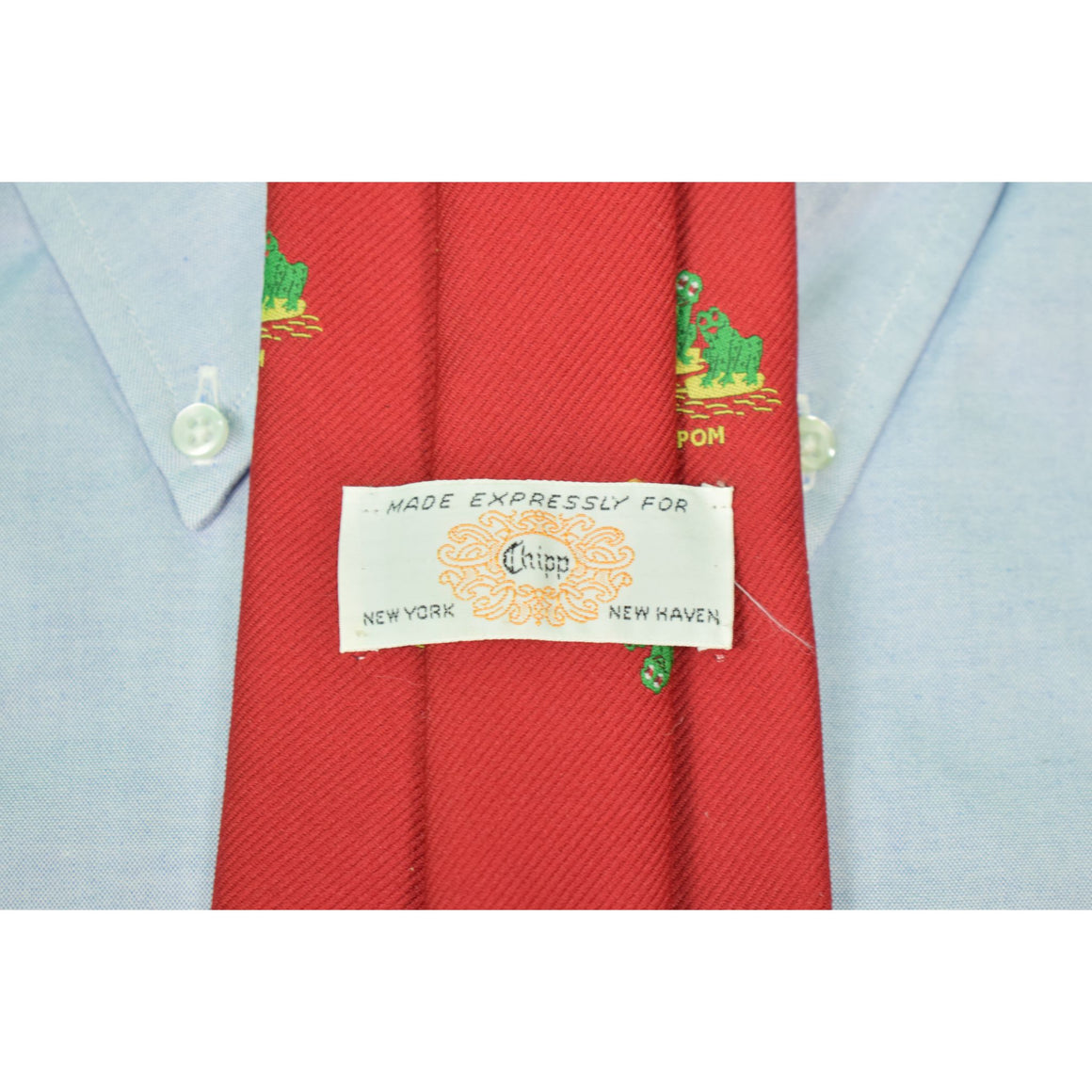 "Chipp YPOM Poly Green ""Frogs"" Tie"