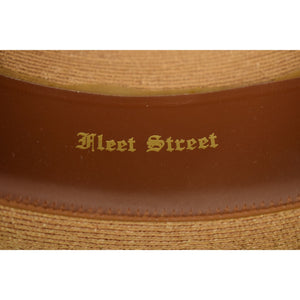 "Chipp ""Fleet Street"" Panama Hat w/ Grosgrain Stripe Ribbon Band Sz: 7"