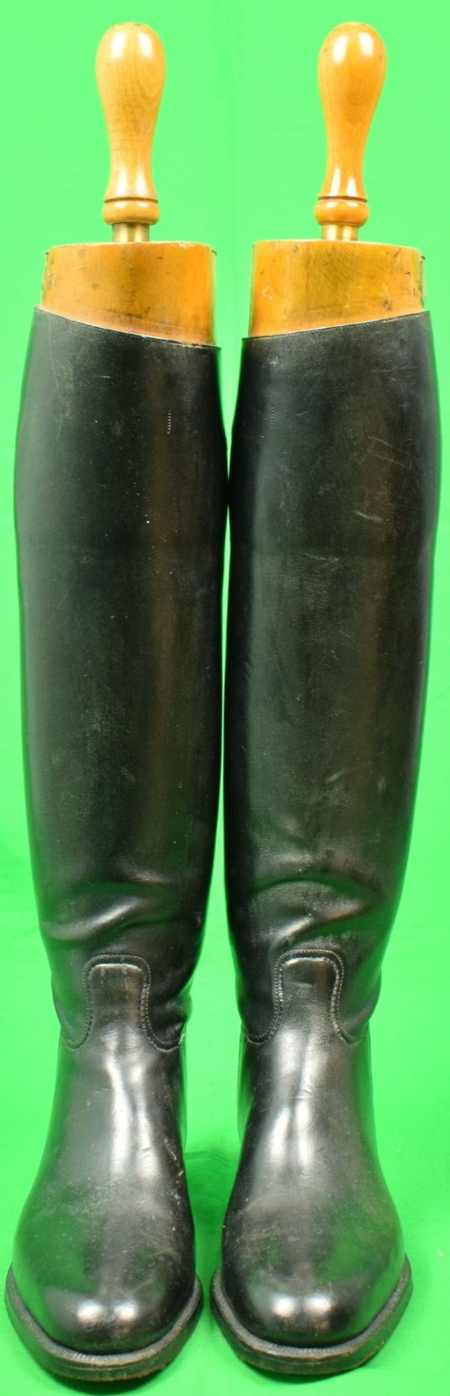 Maxwell London Riding/ Hunting Black Boots Made for Mrs. Geoffrey M. Gates