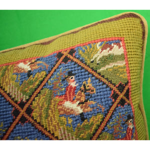 Fox-Hunt Needlepoint Pillow (SOLD!)