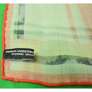 "Macclesfield English 70% Wool/ 30% Silk Plaid Preppy Fox ""New!"""