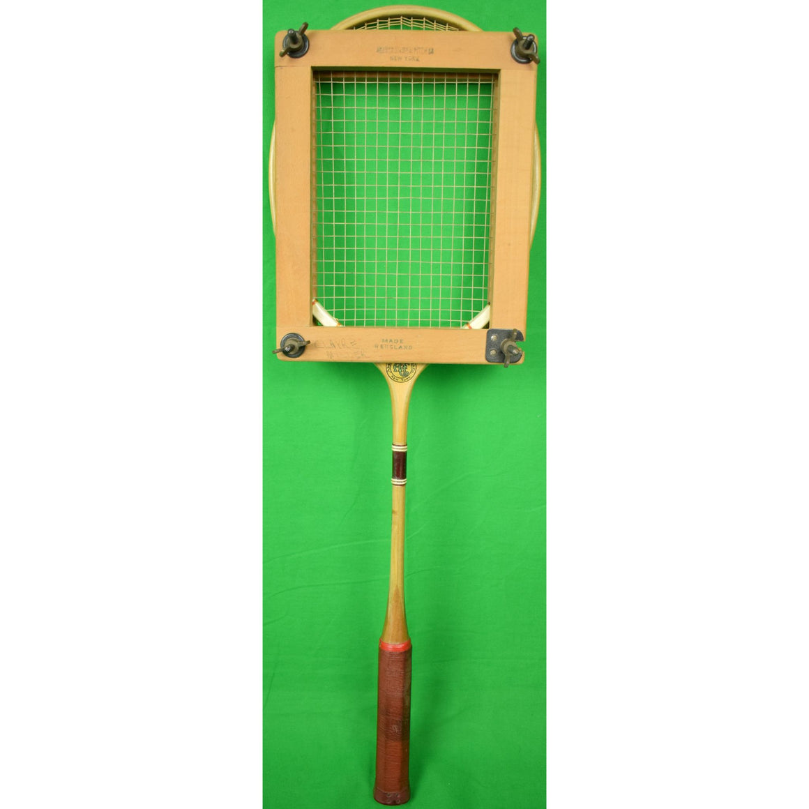 Abercrombie & Fitch English Badminton Racquet w/ Wood Press