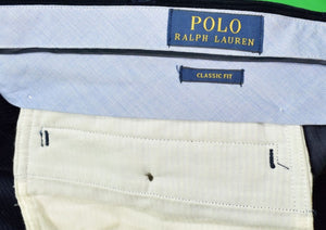 Polo Ralph Lauren Navy Corduroy w/ Embroidered Huntsmen/ Ducks & X'd Rifles Classic    Fit