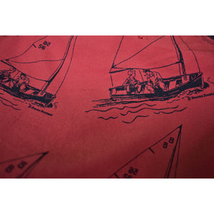 Brooks Brothers Nantucket Red Poplin Trousers w/ Paul Brown Yachting Print