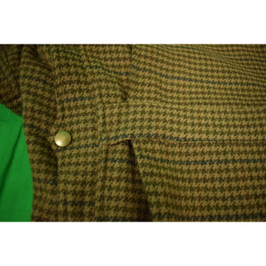 Polo Ralph Lauren Houndstooth Norfolk Field Coat w/ Corduroy Collar Sz XL