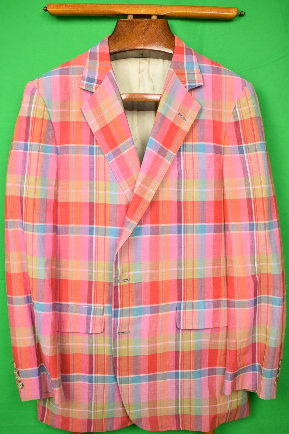 The Andover Shop Pastel Madras Plaid Jacket