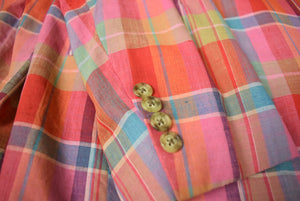 'The Andover Shop Pastel Madras Plaid Jacket' Sz: 46L