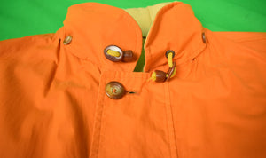Paul Stuart Reversable Orange/ Tan Italian Sueded Cotton Jacket Sz 42R (Sold!)