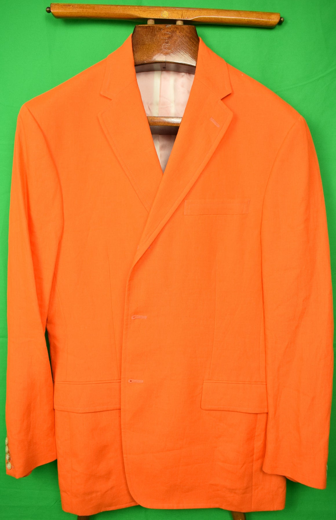 Polo Ralph Lauren Orange Italian Linen Blazer Sz L