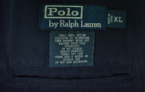 Polo Ralph Lauren Navy Cotton Blazer w/ 3 Emb Polo Players on Breast Pocket Sz: XL (SOLD)