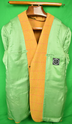 The Andover Shop Custom Orange w/ Green Windowpane Tweed Jacket Sz 46L (SOLD)