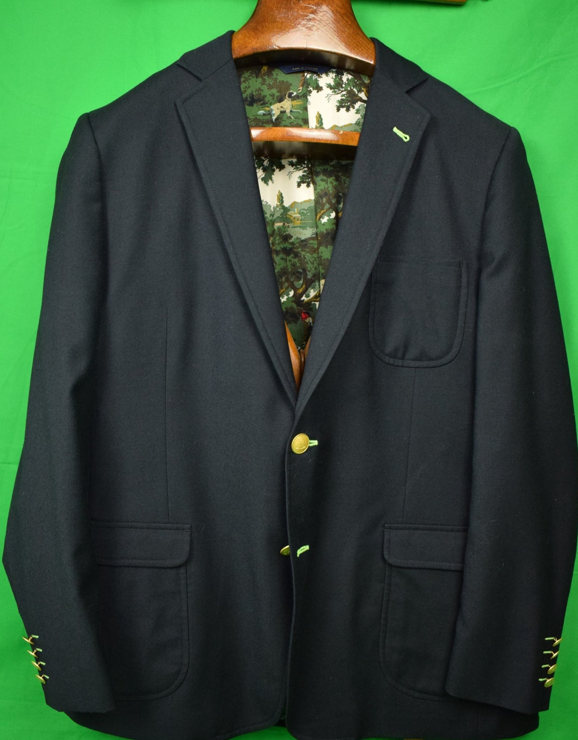 Brooks Brothers Social Primer Limited Edition Navy Flannel Blazer Sz 46L