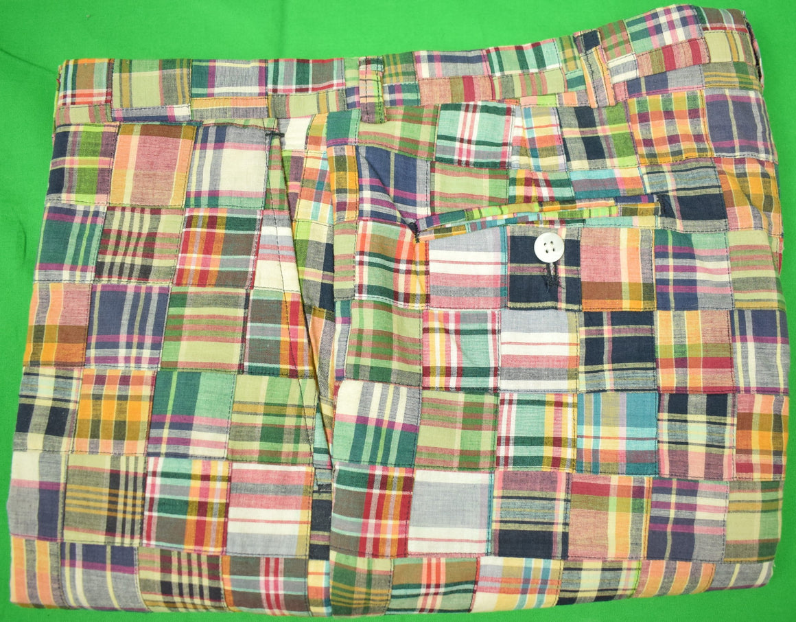 "J. Press Patch Panel Madras Plaid Trousers Sz: 36""W"
