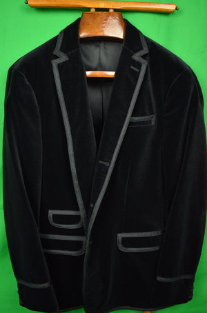 Rugby Ralph Lauren Black Velvet Dinner/ Smoking Jacket Sz: XL