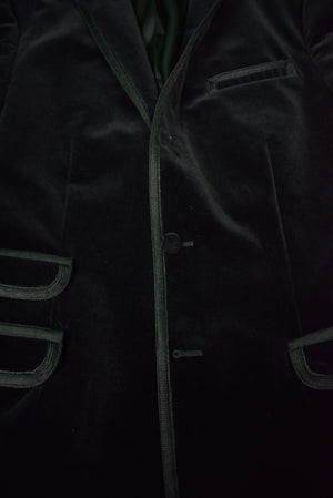 Rugby Ralph Lauren Black Velvet Dinner/ Smoking Jacket Sz: XL/ 46R