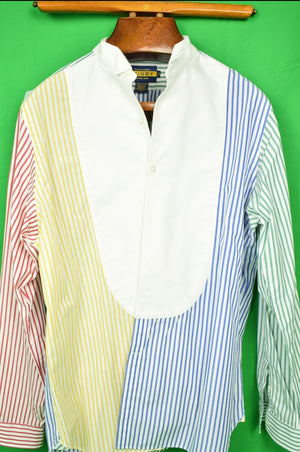 Rugby Ralph Lauren 'Fun' Stripe Dinner/ Tux Shirt Sz: XL