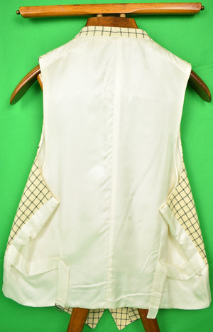 The Andover Shop Tattersall Navy/ Cream Vest Sz 44R