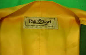 Paul Stuart Boxcloth Wool Green 'Postboy' Vest Sz 40 Long