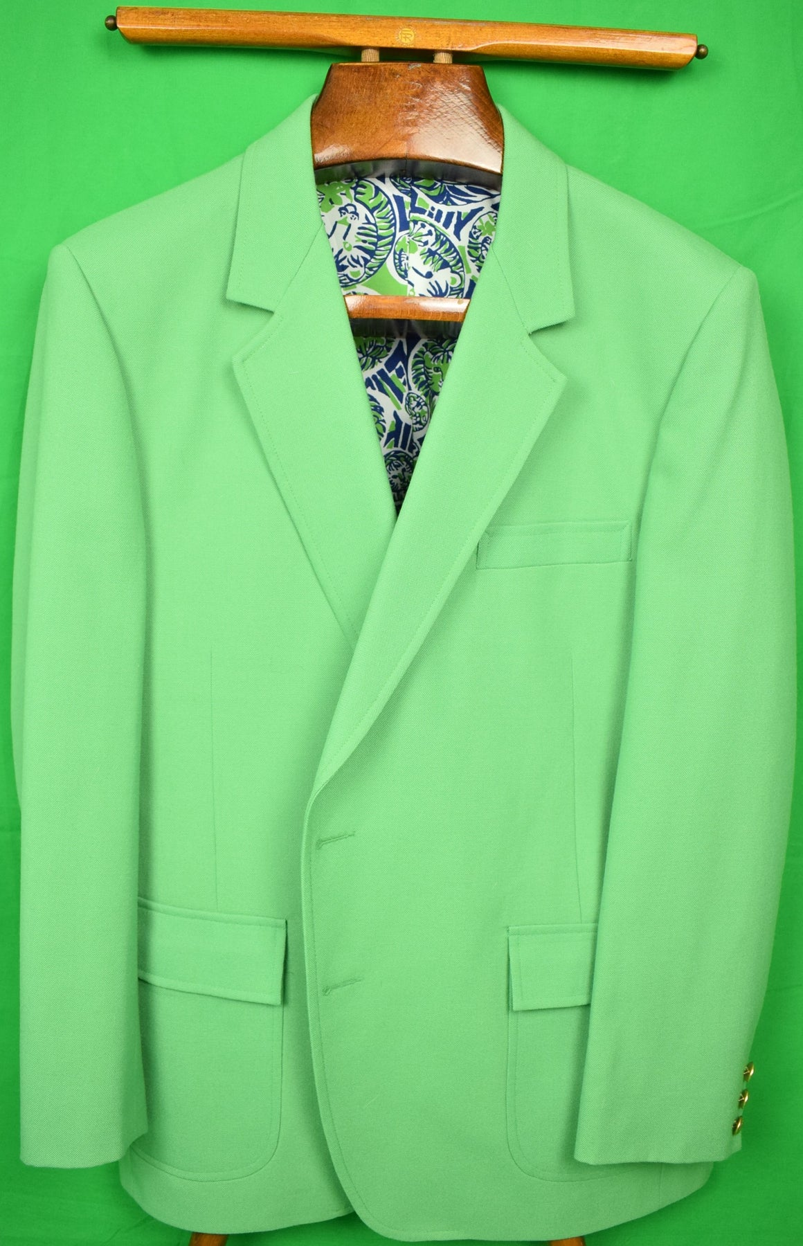 Lilly Pulitzer Palm Green 'Mens Stuff' Blazer Sz: 46R (Sold!)