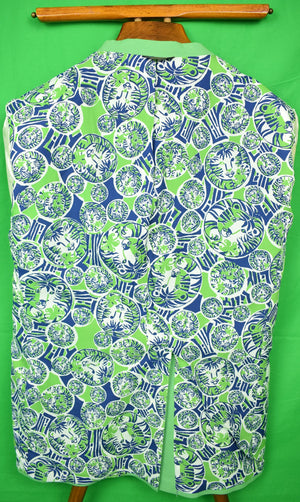 Lilly Pulitzer Palm Green 'Mens Stuff' Blazer Sz: 46R (SOLD)