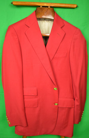 Polo Ralph Lauren M.F.H. Red Doeskin Flannel Blazer Sz: 39 R