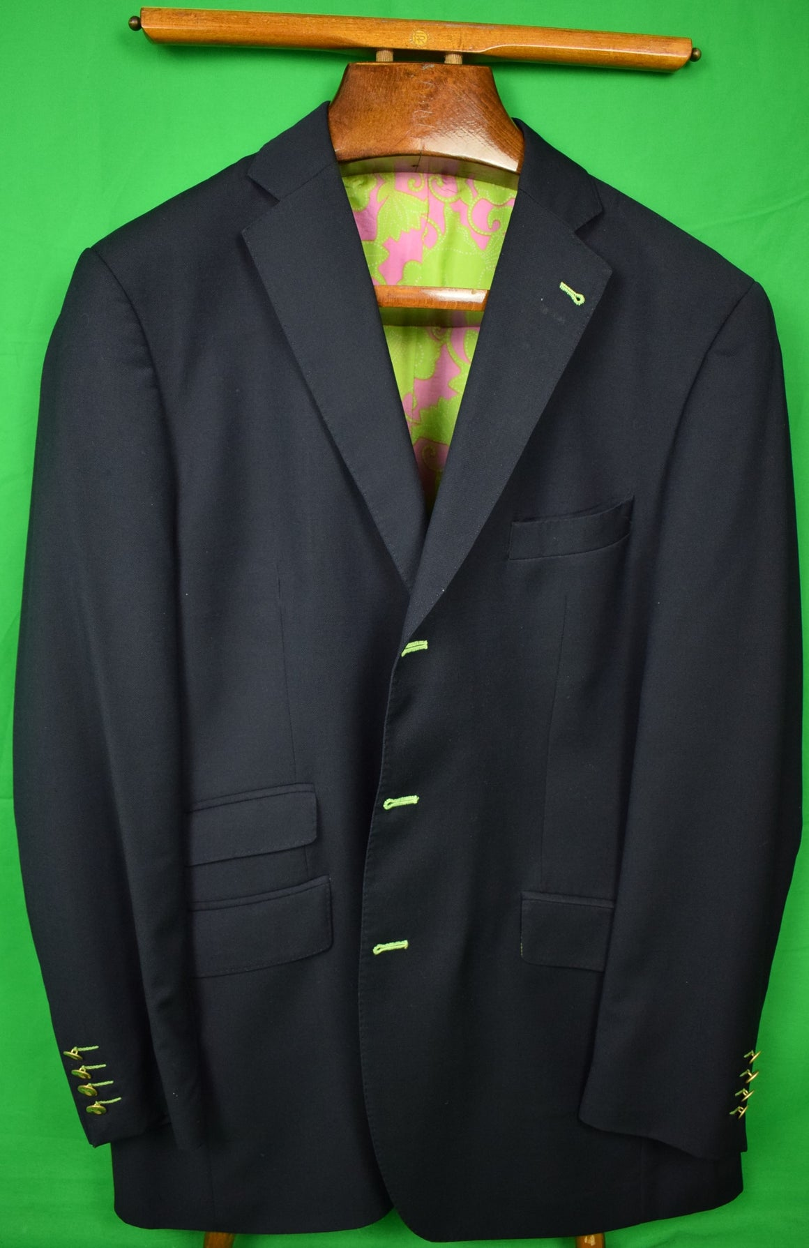 Lilly Pulitzer Hopsack Navy Wool Blazer Sz 46L (Sold!)
