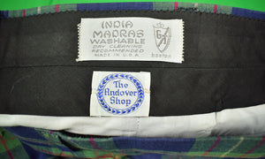 "The Andover Shop Olive/ Navy India Madras GT Trousers Sz: 33""W"