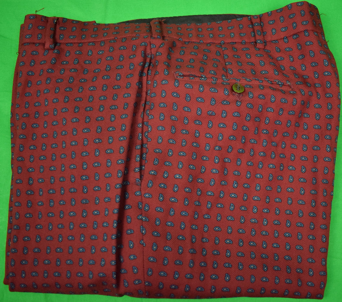 "Chipp Burg Foulard Challis Trousers Sz: 35""W (Sold!)"
