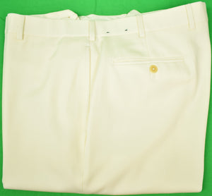 Brooks Brothers 'Madison' Winter White Flannel Trousers Sz: 40W/32L