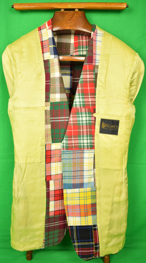 Patch Panel Tartan Men's Sport Jacket c1973