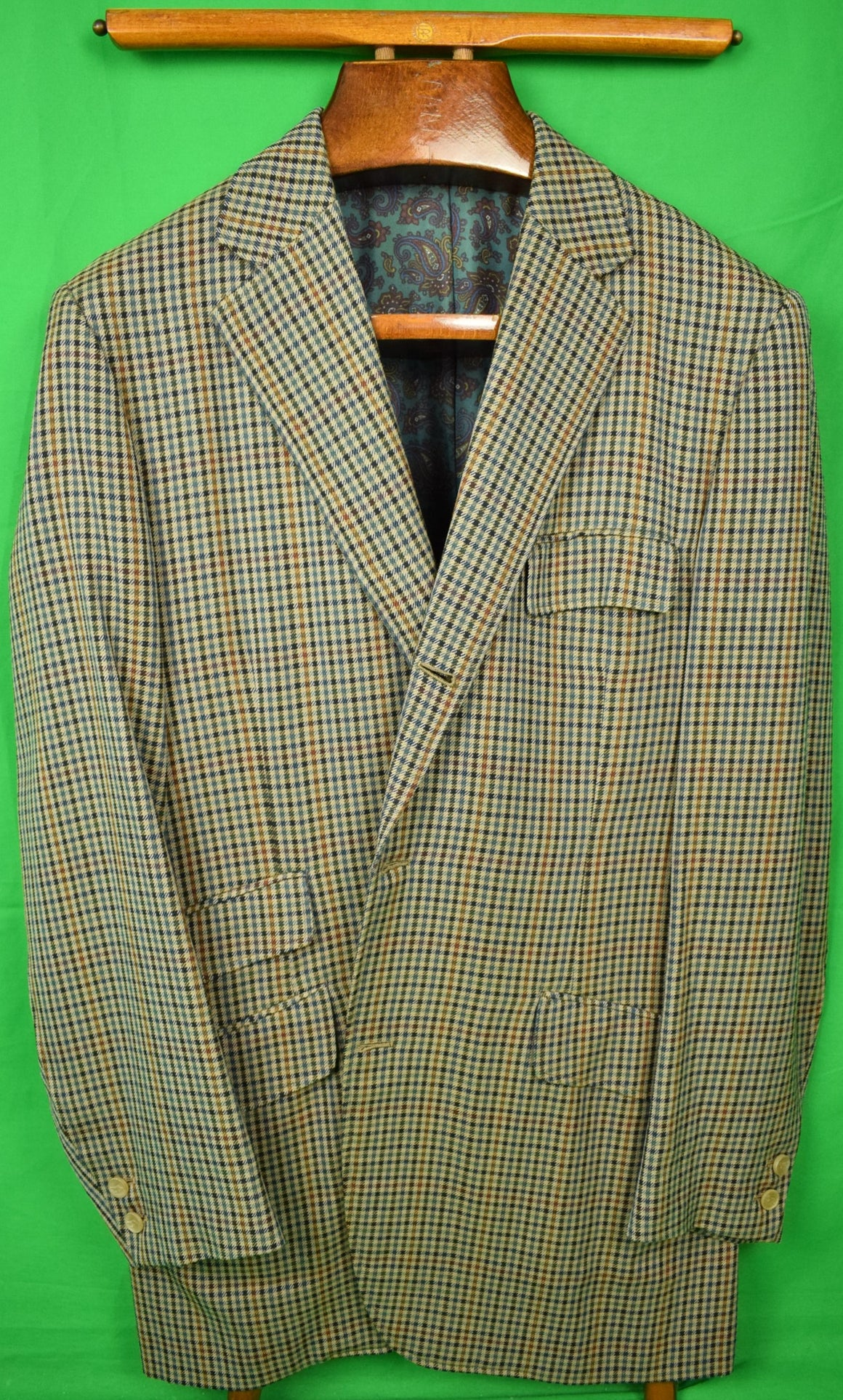 Chipp Gun Club Check Saxony Wool Sport Coat c1993 Jacket Sz: 44L