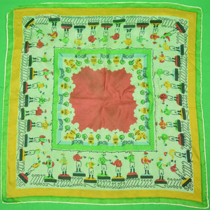 Jockeys Voile Multi-Color c1950s Pocket Sq
