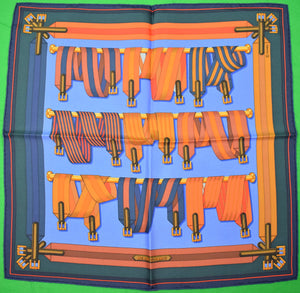 Hermes of Paris 'Harness Belts' Silk Pocket Square