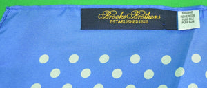 Brooks Brothers Polka Dot English Blue Silk Pocket Square