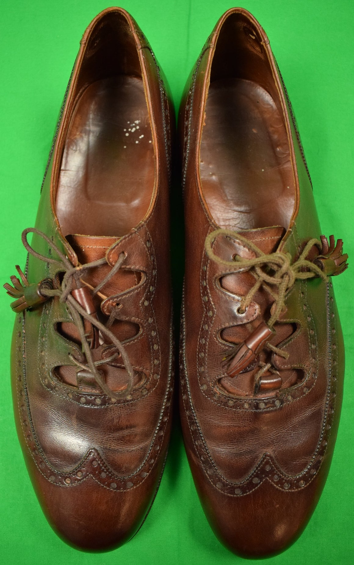 Pr of Paul Stuart English Ghillie 'Brogues' Sz 11-1/2 D