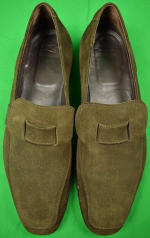 Paul Stuart's Choice Taupe Suede Slip-On Loafers Sz 11-1/2 D