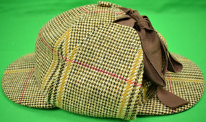 Lock & Co Russell Plaid 'Deerstalker' Hat Sz 7-3/8""