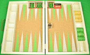 Crisloid Backgammon Hand-Painted Cork Board Set