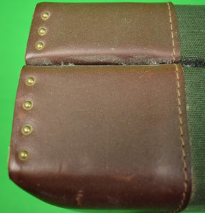 Orvis Hunting Green Shooting Gun Case w/ Leather Straps