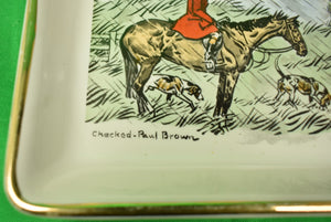 Paul D. Brown 'Checked' Fox-Hunter Delano c1962 Ceramic Tray
