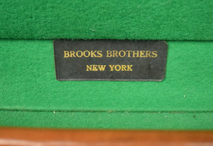 Brooks Brothers Leather Steamer Trunk/ Valet Case c1930s