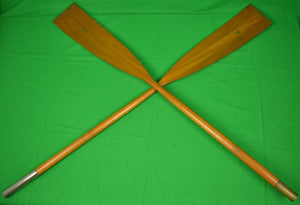 Abercrombie & Fitch 2 Wooden Oars w/ Copper Blade Tips