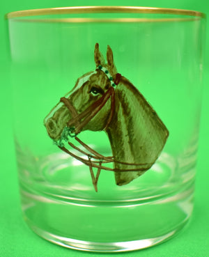 Set of 6 Cyril Gorainoff Old-Fashioned Horse Head Glasses