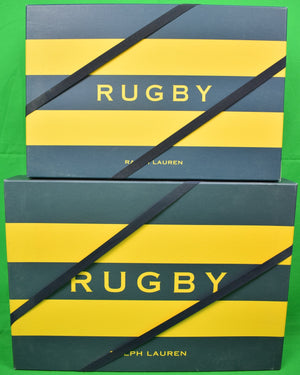Rugby Ralph Lauren Yellow/ Navy Gift Boxes New Univ Pl w/ Straps!